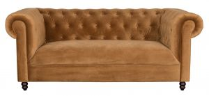 Chester Sofa - Velvet Golden Brown