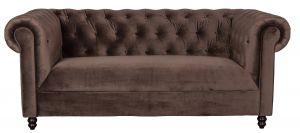 Chester Sofa - Velvet Dark Brown