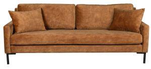 Houda 3-Seater Sofa - Caramel