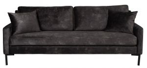 Houda 3-Seater Sofa - Anthracite