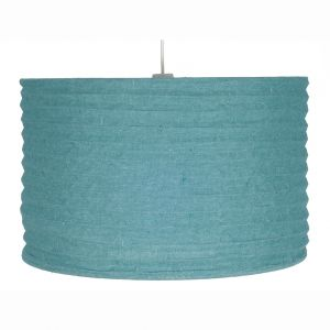 35cm Smoke Blue Jute Easy Fit Pendant