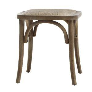 French Stool w. wicker seat
