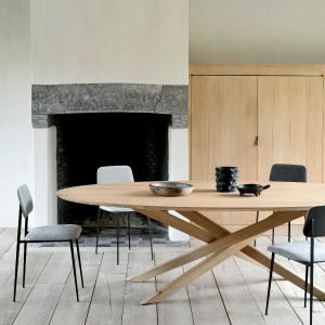 Oak Mikado Dining Table Oval 267cm