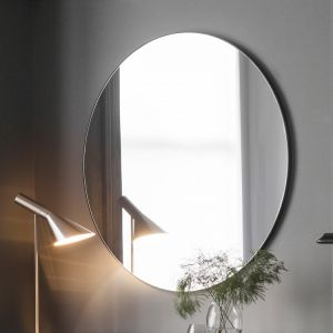 Holly Round Mirror Black