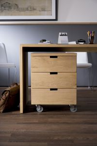 Oak Office Billy Box 3DRW