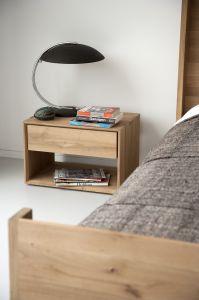 Oak Nordic Bedside Table 1DRW