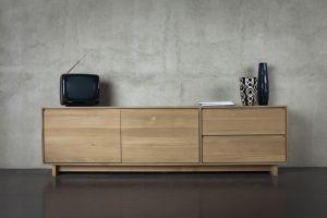 Oak Wave TV Cupboard 2/1/1