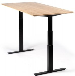 Oak Bok Adjustable Desk - Table Top - Varnished