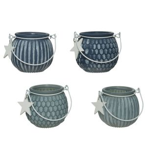Tealight Holders with star - set of 4