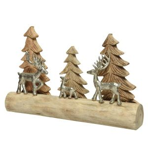 Christmas Table Top with Trees and Deer