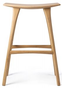 Oak Osso Bar Stool - Varnished