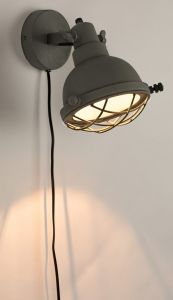 Evan Wall Lamp - Matt Grey