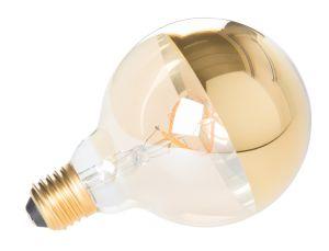Globe Mirror Gold Bulb