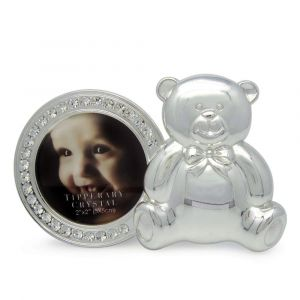 Round Baby Frame with Bear