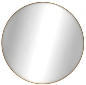Oak Layers Wall Mirror - Round - Varnished 91