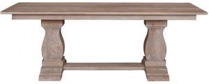 Sofia Dining Table Rustic Brown