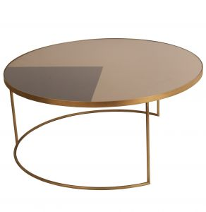 Geometric Bronze Coffee Table Round