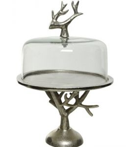 Cake Stand Alu with Glass lid