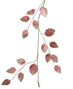 Velvet leaft pink and gold garland