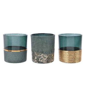 Glass Tealightholders - set of 3