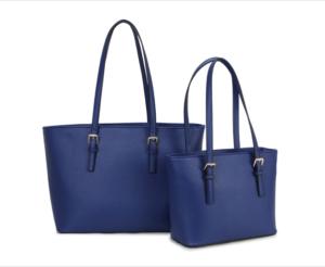 Set of 2 navy handbags