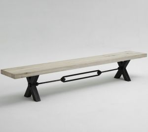 Kansas bench white wash