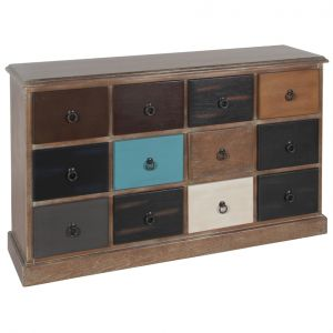 Loft Natural Drift Wood 12 Drawer Unit