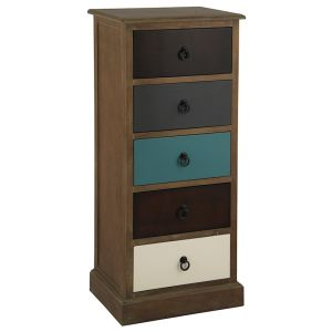 Loft Natural Drift Wood 5 Drawer Unit