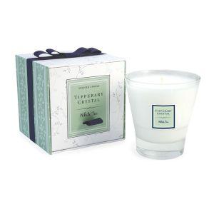White Tea Filled Tumbler Glass