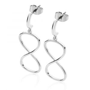 Large Infinity Drop Earrings Silver