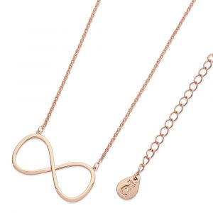 Large Infinity Pendant Rose Gold