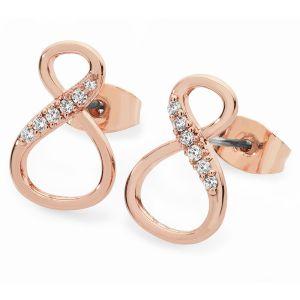 8 Shape Infinity Stud Earrings Rose Gold