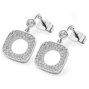 SQUARE PAVE MOON EARRINGS