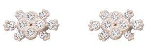 White Flower Ctr Hammock Earrings