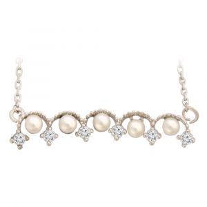 White Bridal Pearl Hammock Pendant