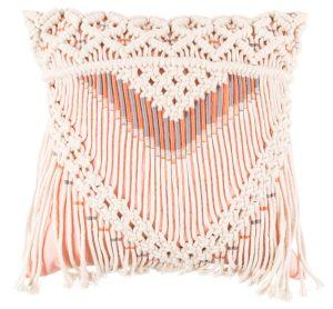 Saar Pillow - Ivory Pink