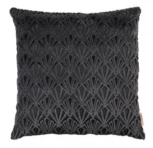 Daisy Pillow Black