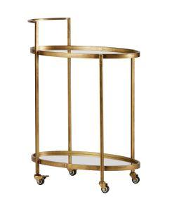 Push Trolley Metal Antique Brass