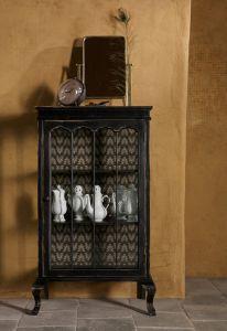 Odd Wooden Black Cabinet
