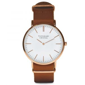 Classic Watch - Light Brown Leather Strap