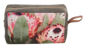 Cosmetic Bag Pink Flower Sand Large