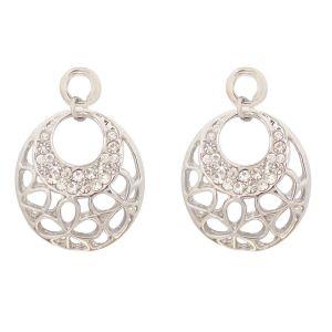 White Double Circle Aztec Earring