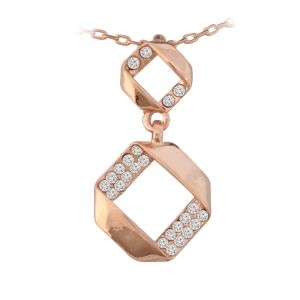 Rose Gold Folded Necklace