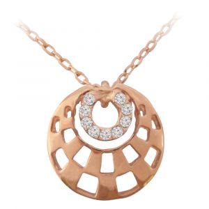 Rose Gold Circles Necklace