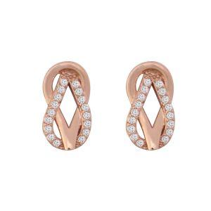 Rose Gold Loop Earrings