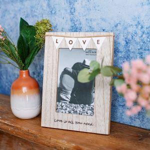 Vintage Bunting Love Photo Frame