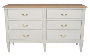 Annabelle 6 Drawer Chest Wood Top