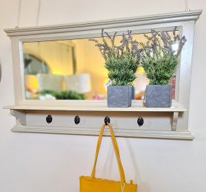 Anna Mirror With Shelf And Hook