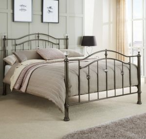 Ashley Black Nickel Bed
