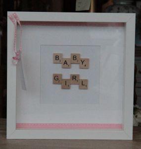 Baby Girl Scrabble Frame